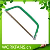 Adjustable hacksaw frame