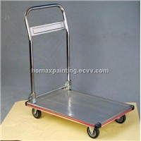 Aluminium Platform Hand Cart trolley dolly with rubber wheels PZS150A