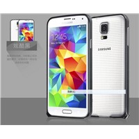 Aluminum crossline bumper case with buckle for Samsung S5
