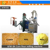 Automatic 6FW-8A maize flour milling machine with best price