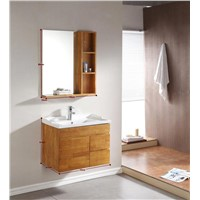 Bathroom cabinet,made of ceramic and solid wood