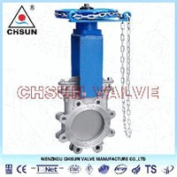 Chain Wheel Valve, Chain Wheel Gate Valve, Chainwheel Knife Gate Valve