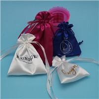 Cheap Beautiful Custom Logo Satin Jewelry Bag