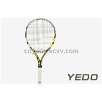 China 2014 new OEM carbon fiber graphite tennis racket with top quality tennis string