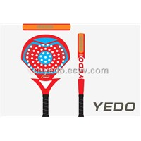 China 2014 new OEM glass fiber graphite paddle beach racket