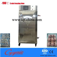 China stainless steel liquid nitrogen meat  vegetable seafood iqf freezer