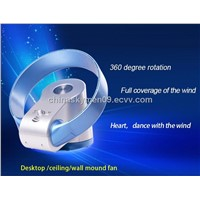 Desktop /wall-mounted /ceiling folding bladeless fan
