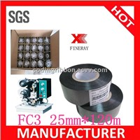 Fineray brand FC3 25mm*120m black hot coding foil / date coding ribbon for date/batch number coding