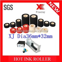 Fineray brand XJ 36mm*32mm black hot ink roller for date coding