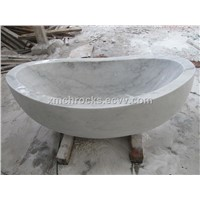 Guangxi White Marble Bathtub