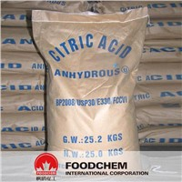 High Purity Food Grade Citric Acid Anhydrous Bp98 30-100 Mesh