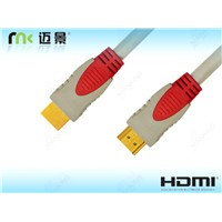 High Speed Hdmi 3d Cable With Ethernet, one color moulding HDMI Cable
