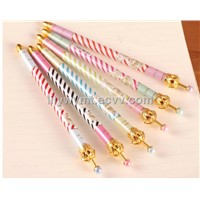 Hot Sale 0.5mm Crown Ballpoint Pens, Cute Ball Pens, Korea Stationery