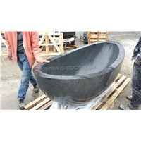 Impala black granite bathtub