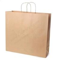 Kraft Paper Shopping Bag, Can Add Logo