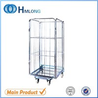 Logistics handling steel rolling security supermarket cart