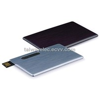 Metal card USB flash drives, 64MB-128GB, grade A, free custom printing, package, 3 years warranty