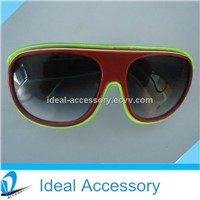 Multi-Colors El Wire Blinking Carrera Flashing Light Up Sunglasses For Promotional Gift&Night Club