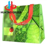 Offset printed PP/ RPET  non woven tote bag / shopping bag