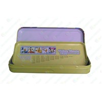 Pencil case,Student stationery box,tinplate stationery case with middle level