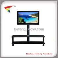 Plasma TV Table, Tempered Glass with Bracket
