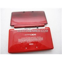 Replacement Full Housing Shell Case with Buttons and Screws for Nintendo 3DS - Flame Red