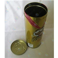 Round tin box for potato chips,Chicken rolls Cookie Jar,Sandwich biscuits metal boxes