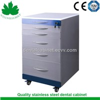 SSU-01 Stainless steel medical mobile cabinet with wheels
