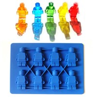 Silicone Robot Cake Mold in FDA & LFGB/ Fashional design Robot & toy block silicone chocolate mould