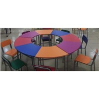 Slipable kids table and 8 chairs(SF-60A)