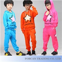 Star Front & Drawstring Wholesale Kids Clothes With Long Sleeve Size 100-140 Z512139