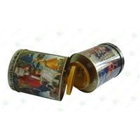 The tinplate music box,musical boxes,sound of music christmas gift box