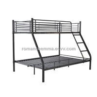 Twin/Full Bunk Bed, KD Structure Triple Bunk Bed with Triple Sleeper
