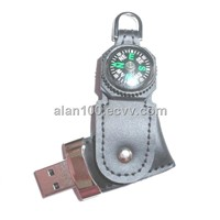 USB flash disk with compass / thermometer
