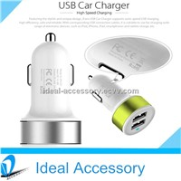 Universal 5V 2A Mushroom USB LED Light Car Charger For iPhone 5 iPad Samsung HTC