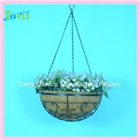 Wire Hanging Basket with Coco Liner