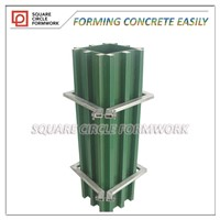 concrete column formwork system reusable 50 times at least