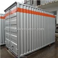 corrugated  steel truck body