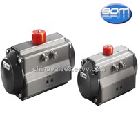 double acting pneumatic valve rack and pinion rotary actuator