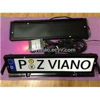 flip car license plate frame,rotation license plate frame,rolling curtain plate frame