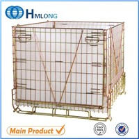 foldable stackable steel PET Preform storage mesh collapsible wire box