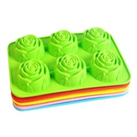 food grade flower silicone cake mould with FDA/LFGB