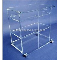 lucite bar cart,acrylic trolley,wine holder
