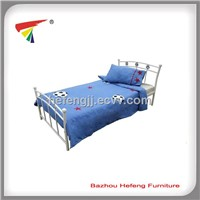 metal single bed, made of metal tubes with powder coated