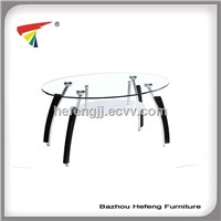 modern glass end table, made of  tempered glass and chromed metal