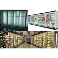 multiple glass doors for reach in cooler/freezer