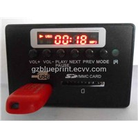 panel mp3 module with usb, sd, bluetooth, fm, aux from china supplier
