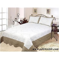 polyester or cotton embroidery bedding set quilt BR2001