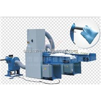sponge breaking&carding&stuffing combination machine