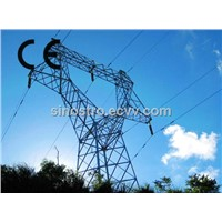 steel power transmission line tower
